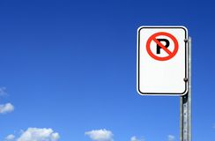 No parking sign with copy space stock photography