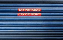 No parking sign day or night background Royalty Free Stock Images