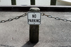 No Parking Sign by Dock Royalty Free Stock Photo
