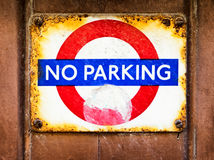 No parking sign Royalty Free Stock Image