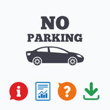 No parking sign icon. Private territory symbol Royalty Free Stock Image