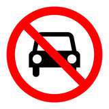 No parking sign icon Royalty Free Stock Photography
