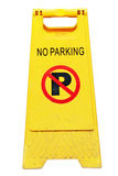 No parking sign. Isolated no parking sign on white background royalty free stock images