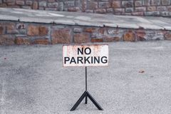 No parking sign royalty free stock photography