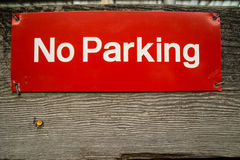 No Parking sign. Stock Photo