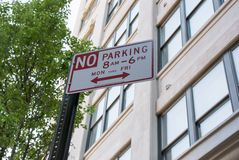 No Parking sign in New York City. During daytime Monday through Friday Stock Images