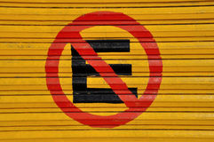 No parking sign, no estacionarse Royalty Free Stock Images
