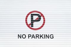 No parking sign royalty free stock photo