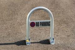 No parking sign on a parking lot Stock Photos