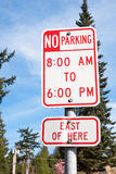 No Parking Sign on Pole Royalty Free Stock Image