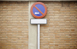 No Parking Sign on street Stock Image