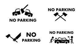 No parking sign and symbol with axe concept vector. No parking sign and symbol with axe concept ,vector design Stock Image