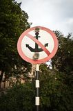 No parking sign for vessels Stock Photos