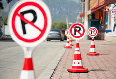 No Parking Signs Stock Image