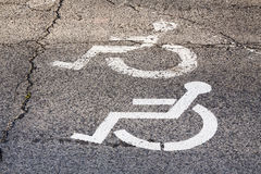 No parking on site for a disabled person. Royalty Free Stock Image