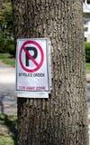 No parking tow away sign Stock Photo