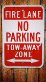 No Parking Tow Away Sign Royalty Free Stock Photo
