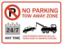 No parking tow away zone, any time Royalty Free Stock Images