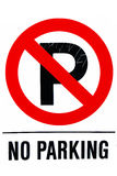 No parking traffic sign Stock Photography