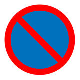 No parking traffic sign vector Stock Photos