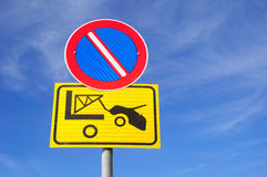 No parking traffic sign. Stock Photography