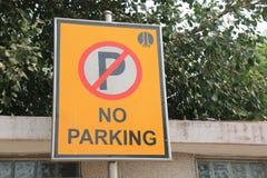 No parking traffic signage New Delhi India. No parking traffic signage in New Delhi India Stock Images