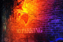 No Parking Wall Royalty Free Stock Photo