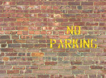 NO Parking on Wall Royalty Free Stock Image