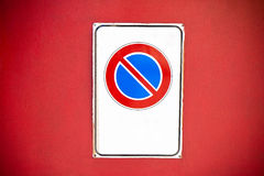 No parking warning sign Stock Image