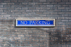 No parking written on a wall Stock Photography