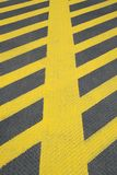 No parking yellow road marking Royalty Free Stock Image