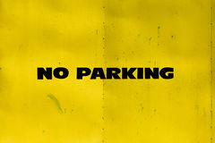 No parking on yellow Stock Photography