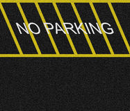 No Parking Zone Royalty Free Stock Photo