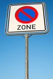 No parking zone Royalty Free Stock Images