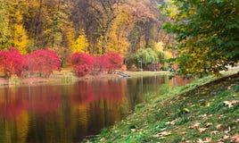 No parque Feofaniya do outono em Kiev Imagem de Stock Royalty Free