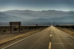 No parque nacional de Vale da Morte Califórnia Nevada United States de Fotografia de Stock Royalty Free