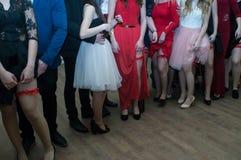 No partido do baile de finalistas imagem de stock