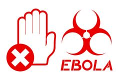 No pass ebola Royalty Free Stock Photo