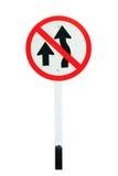 No passing traffic sign Royalty Free Stock Photos