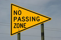 No Passing Zone Sign Stock Photos
