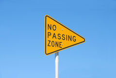No passing zone sign Stock Photo