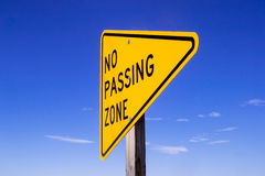 No Passing Zone sign. Stock Image
