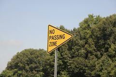No Passing Zone Sign Royalty Free Stock Photo