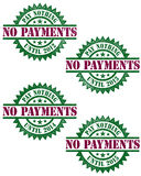 No Payments Financing Vector Stamp Royalty Free Stock Photography