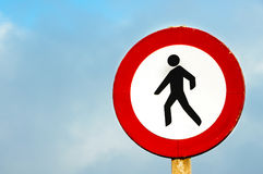 No pedestrian crossing sign Stock Image