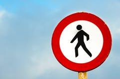 No pedestrian crossing sign Stock Image