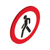 No pedestrian sign icon, isometric 3d style Stock Photography