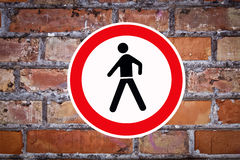 No pedestrian sign Stock Images