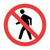 No Pedestrian Traffic Sign stock illustration