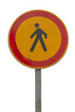 No pedestrian traffic sign 2 Stock Photography